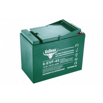 Тяговый гелевый аккумулятор RuTrike 6-EVF-45 (12V45A/H C3)