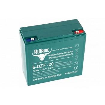 Тяговый гелевый аккумулятор RuTrike 6-DZF-20 (12V20A/H C2)