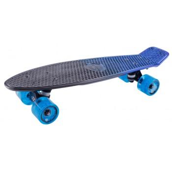 Скейтборд пластиковый Metallic 22 blue