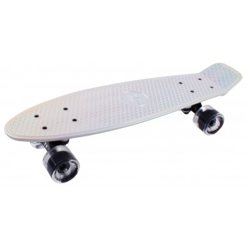 Скейтборд пластиковый Metallic 22 white