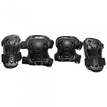 Набор защиты Tech Team Safety line 700, цвет черный (размеры S, M, L)